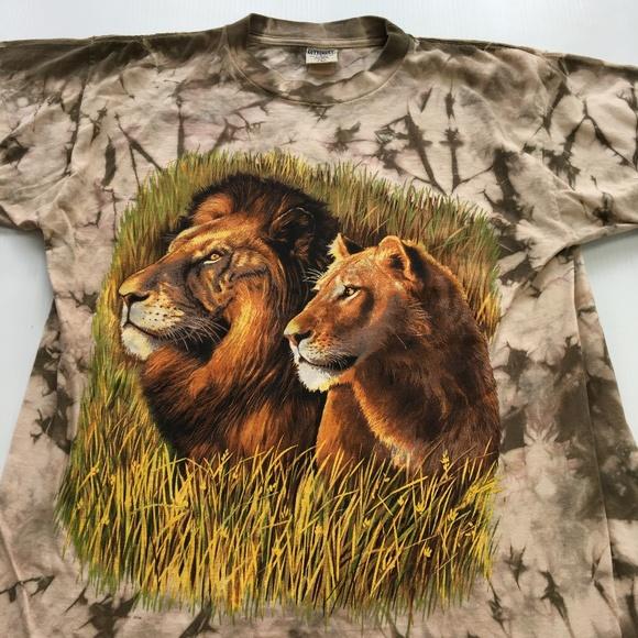 38b8033c Vintage Shirts | Lions Graphic Tee Tie Dye Usa T Shirt L | Poshmark